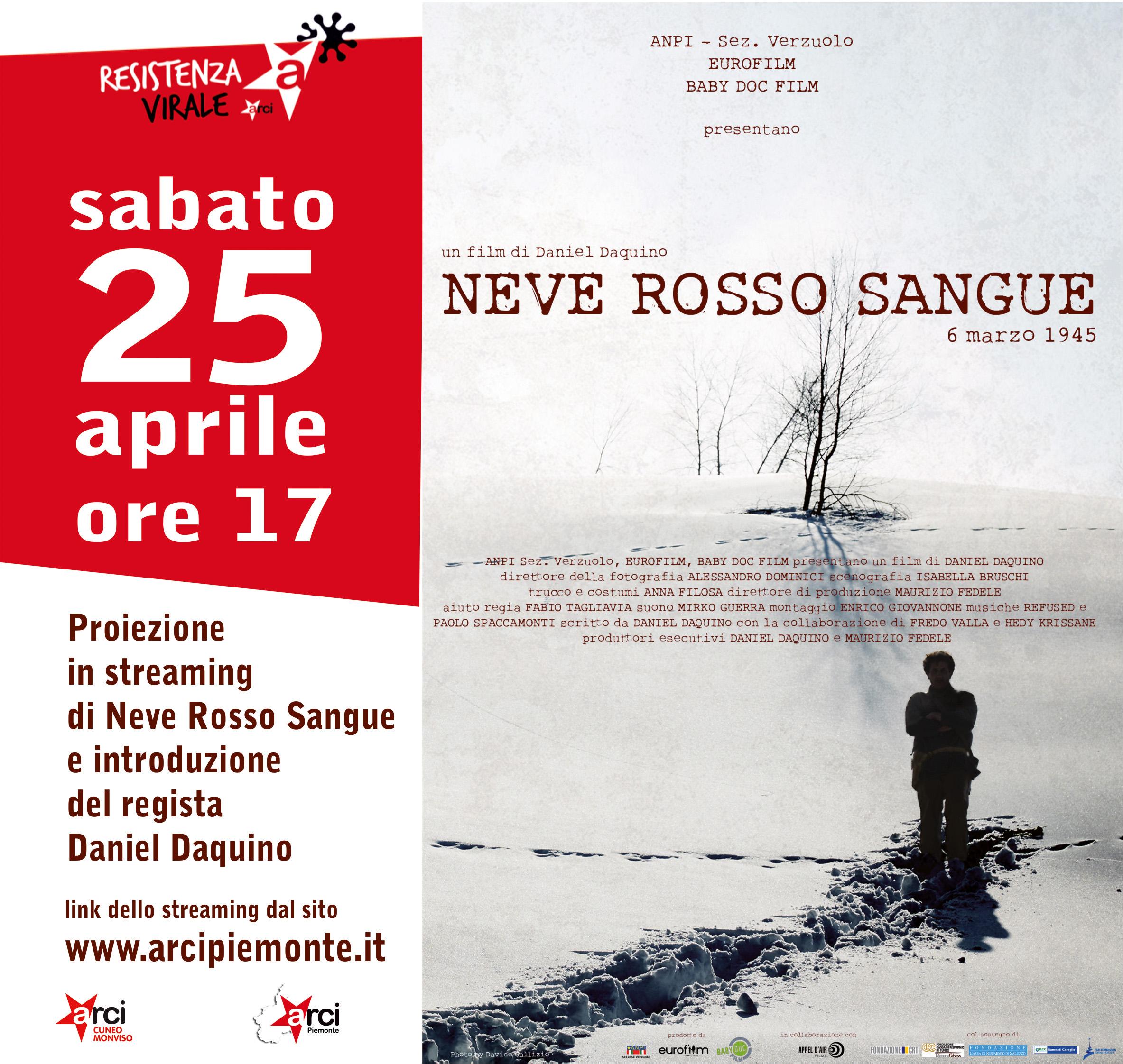 """25 aprile: """"Neve Rosso Sangue"""" di Daniel Daquino"""